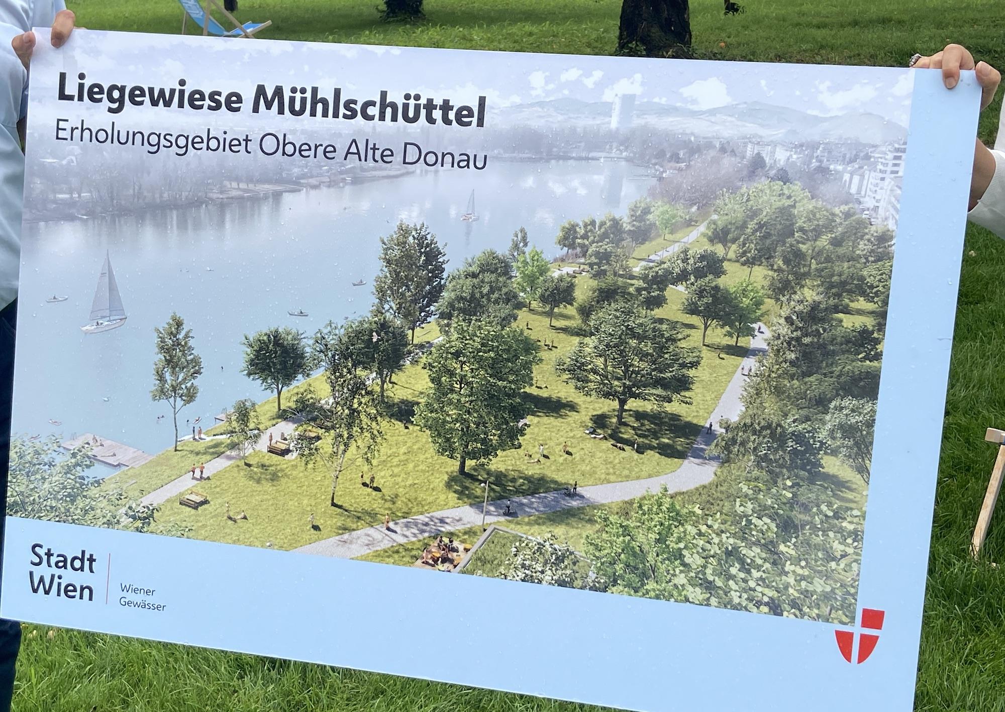 """Visualisierung """"Erholungsgebiet Obere Alte Donau"""". Grafik: MA45."""