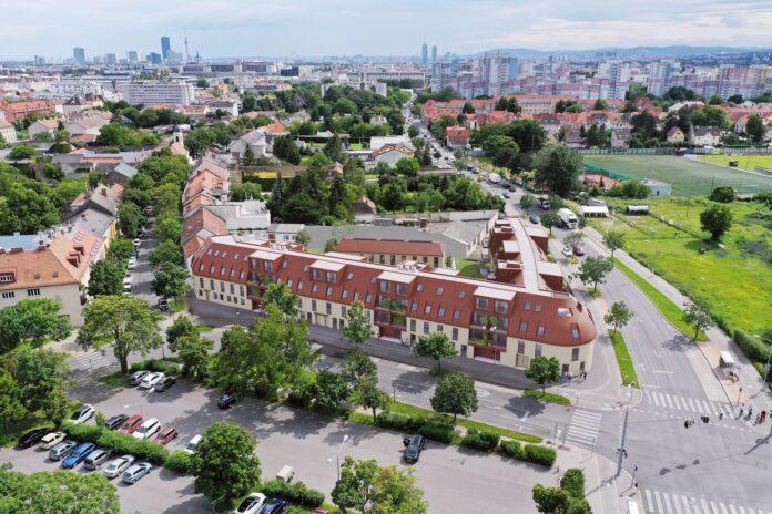 Schöneck 13 bietet 65 modern ausgestattete Eigentumswohnungen in bester Lage zwischen erholsamem Naturraum und spannendem Stadtleben. Foto: BUWOG / Office le Nomade.