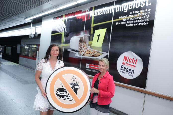 Öffi-Stadträtin Ulli Sima (links) mit Wiener-Linien-Geschäftsführerin Alexandra Reinagl. Halbes Jahr Essverbot: Fahrgäste fühlen sich wohler Copyright: PID / Christian Fürthner.