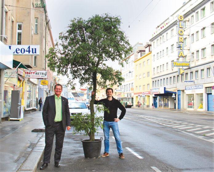 Bezirksvorsteher GeorgPapai und SPÖ-Klubobmann Bernhard Herzog. Bild: SPÖ.