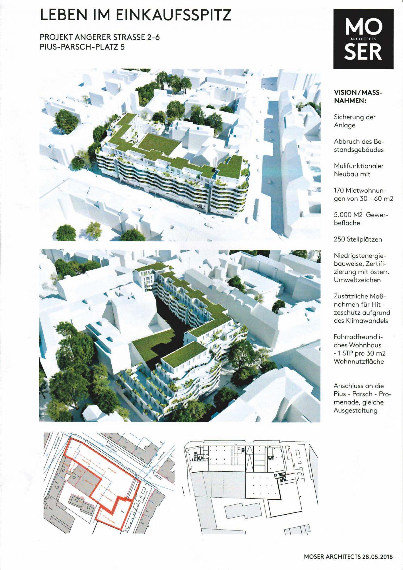 Neuer Einkaufspitz. Bild: Moser Architects.