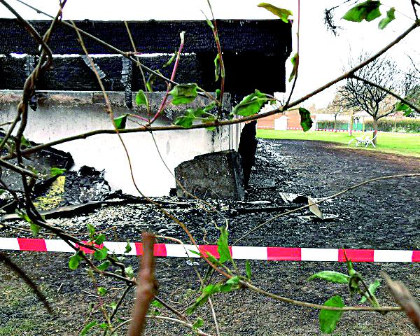 Brand im Bad in der Großfeldsiedlung. Bild: Privat.