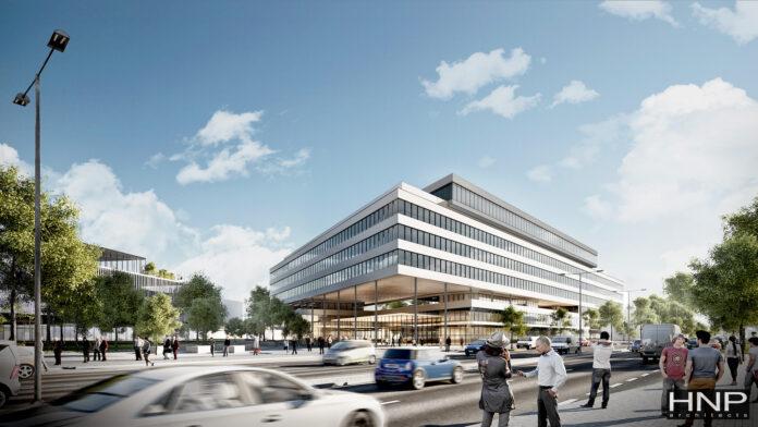 HNP Architects gewinnt Architekturwettbewerb von Bondi Consult. Rendering: HNP.