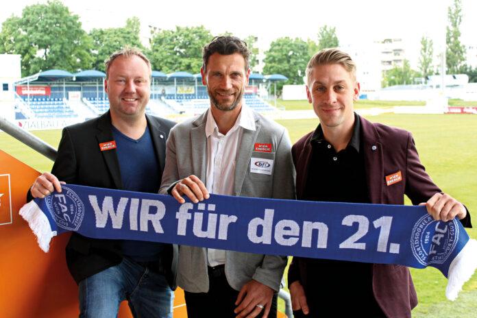 Handl (mitte), Fischer (rechts). Bild: FAC.