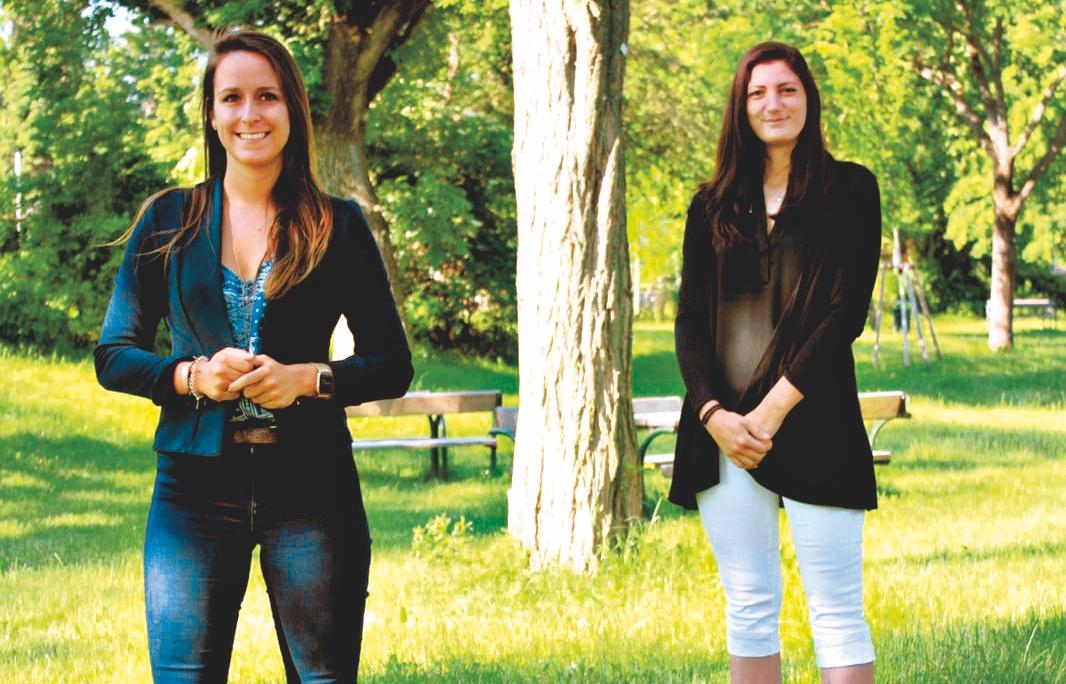 Julia Klika (links)  und Lisi Strauch. Bild: Privat