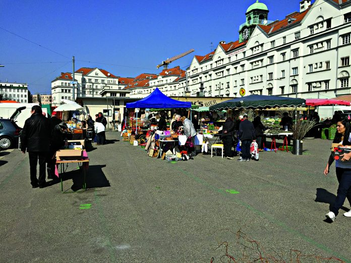 Floridsdorfer Markt. Bild: DFZ.
