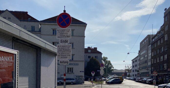 Neue Parkregelung am Schlingermarkt. Bild: DFZ.