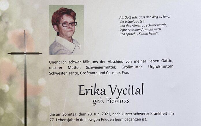 Erika Vycital. Bild: Privat.