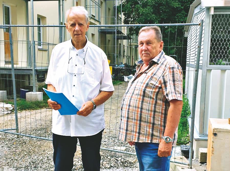 Schimanek (links) und Herr Pavlasek. Foto: Privat.