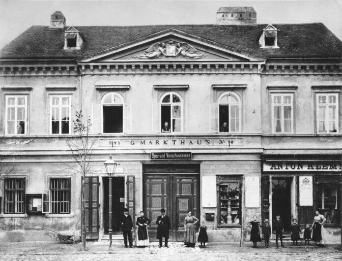 Leopoldauer Gemeinde Markthaus um 1910. Bild: Bezirksmuseum 21.