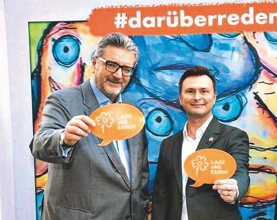 Ewald Lochner (rechts) mit Sozialstadtrat Peter Hacker. Bild: darüberredenwir.at