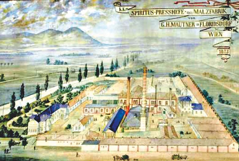 Firmengelände, circa 1873. Fotos: Familienarchiv Mautner Markhof (3), Bezirksmuseum (2).