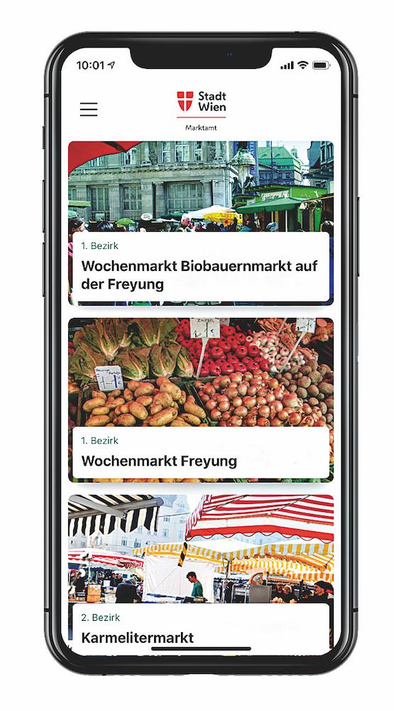 Symbolbild: App der Wiener Märkte. Bid: Marktamt.