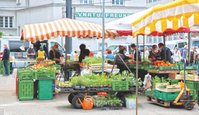 Bauernmarkt am Schlingermarkt. Bild: Robert Sturm - cordbase.com