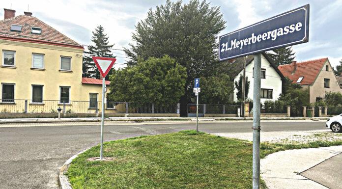 Meyerbeergasse. Bild: DFZ.