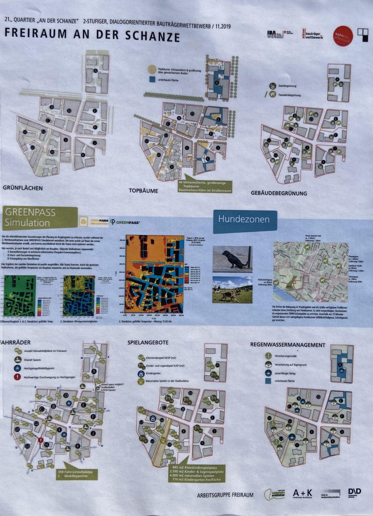 Projekt Freiraum Donaufeld - erste Etappe der Verbauung. Bild: Arbeitsgruppe Freiraum.