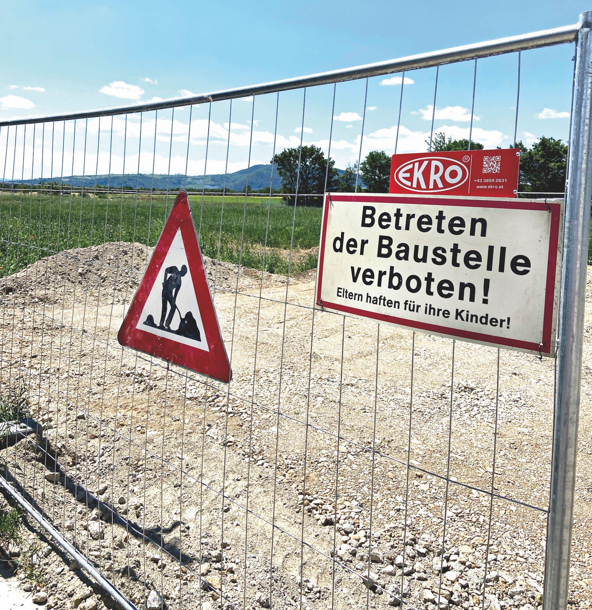 Nahe des Orasteigs starten die Bauarbeiten. Bild: DFZ.