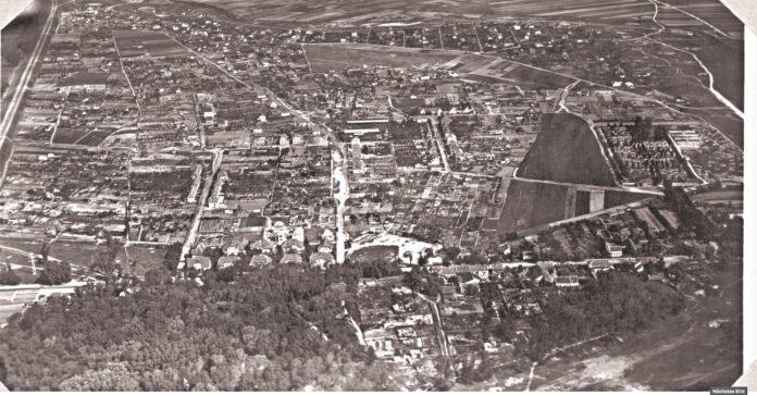 Schwarzlackenau, circa 1930. Bild: Foto: Crowdsourcing / Österreichische Nationalbibliothek.