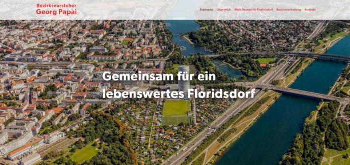 Neue Homepage von Bezirksvorsteher Georg Papai. Bild: Privat.