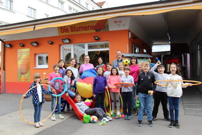 Ferienspiel am Schlingermarkt. Bild: BV21.