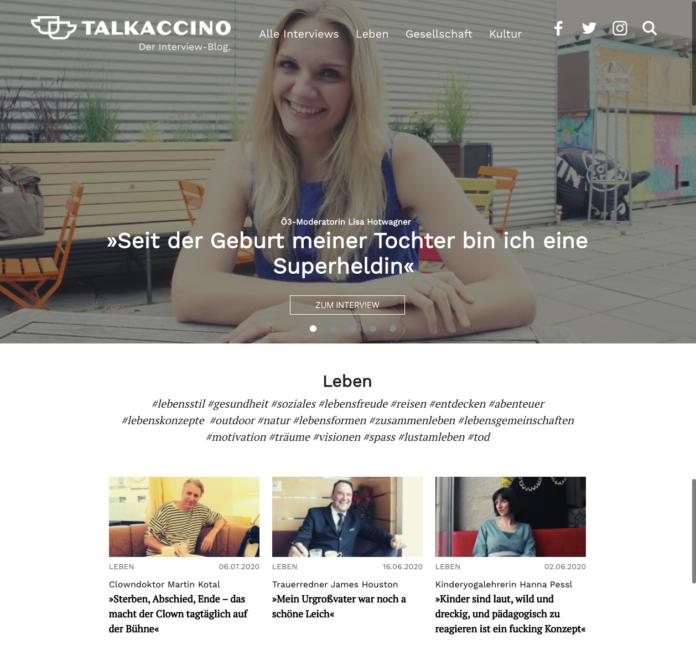 Screenshot www.talkaccino.at. Bild: Privat.