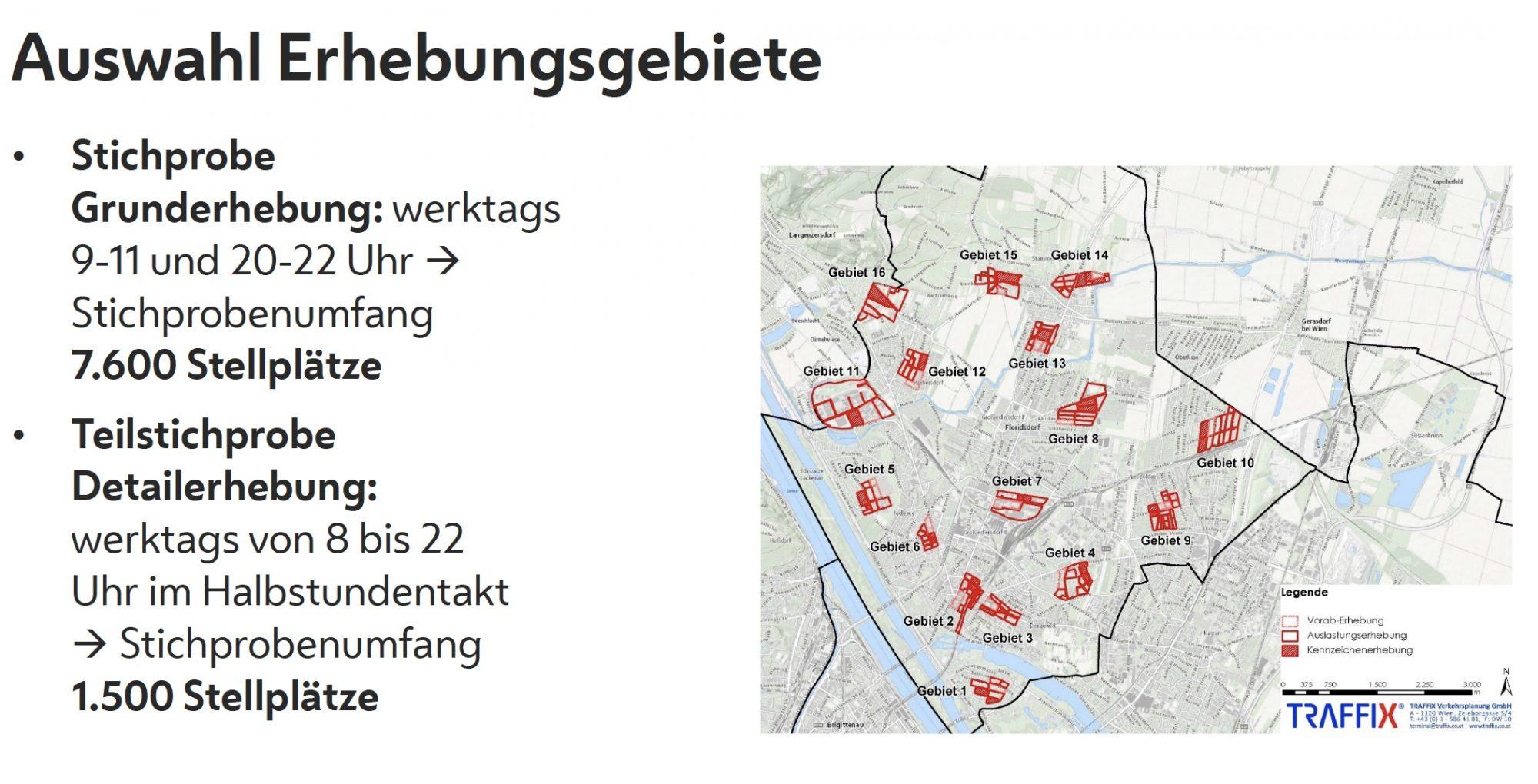 Erhebungsgebiete. Bild: Stadt Wien - Stadtentwicklung und Stadtplanung, Traffix.