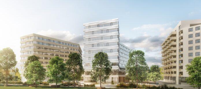 Bondi Consult: Projekt-Gesamtansicht, Hotel -, Office – und Student Hub. Bild: TwentyOne.
