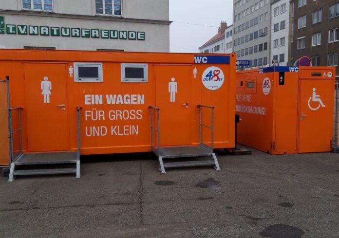 WC-Anlage am Schlingermarkt. Bild: BV21.