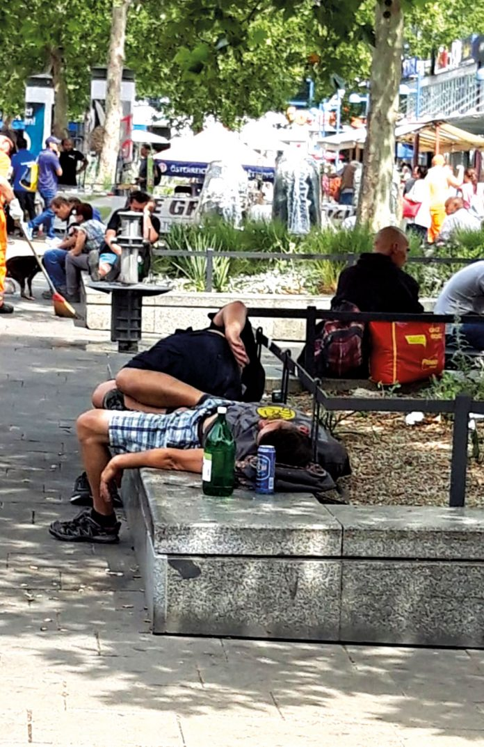 Franz-Jonas-Platz: Leider keine Szene mit Seltenheitswert. Bild: Privat.