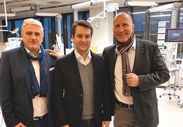 Wolfgang Irschik (im Bild rechts) mit FPÖ-Wien-Chef DominikNepp und KarlMareda. Bild: Privat.