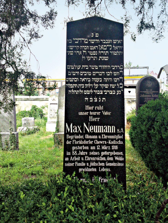 Grabstein am jüdischen Friedhof. Bild: DFZ.