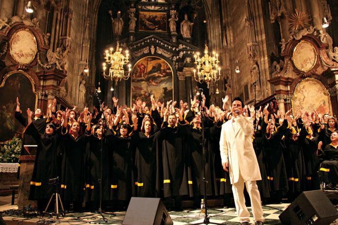 Gospelkonzert des Longfield Gospel Choirs in der Floridsdorfer Kirche. Bild: Lonfield Gospel Choir.