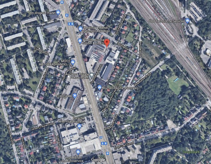 Die Guschelbauergasse ist eine Seitengasse der Prager Straße. Bild: Google Maps.