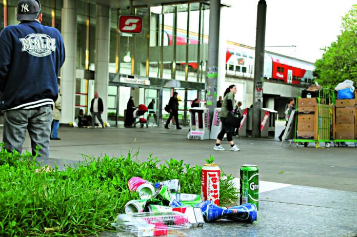 Alkoholverbot rund um Bahnhof Floridsdorf. Bild: Vodicka.