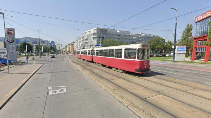 Kreuzung Katsushikastraße & Brünner Straße. Bild: Google Maps.