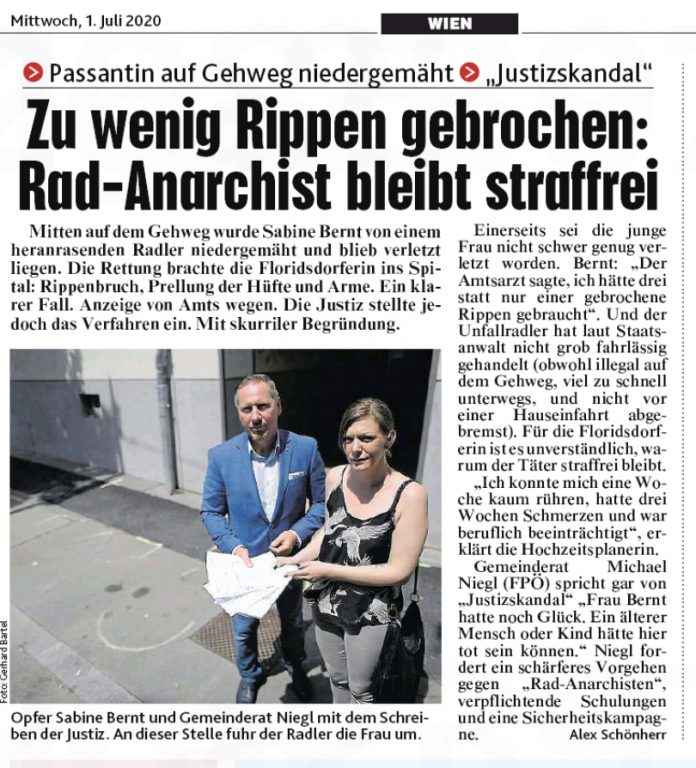 Faksimile: Kronen Zeitung.