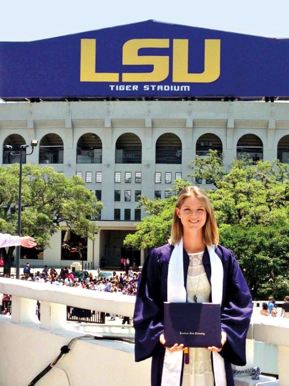 Nadine Dreher an der LSU in den USA. Bild: Privat.