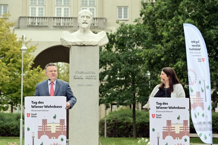 1. Tag des Wiener Wohnbaus bringt 4.353 neue Gemeindewohnungen, Int. Bauausstellung, ein Geschenk von Künstler Attersee und Rahmenprogramm. Bild: PID/Jobst.