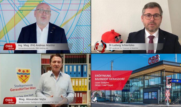 Bahnhof Gerasdorf: Virtuelle Eröffnung als Video